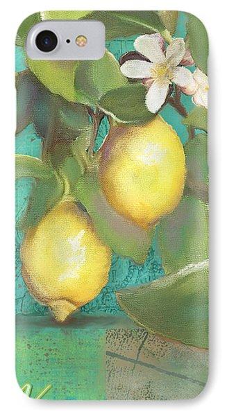 Tuscan Lemon Tree - Damask Pattern 2 IPhone Case