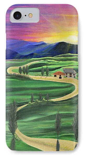 Tuscan Sunset IPhone Case
