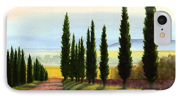 Tuscany Cypress Trees IPhone Case