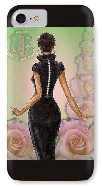 Twenty Pearls N Pink Roses IPhone Case