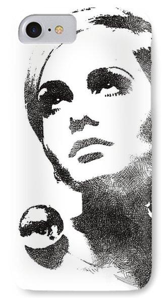 Twiggy Bw Portrait IPhone Case