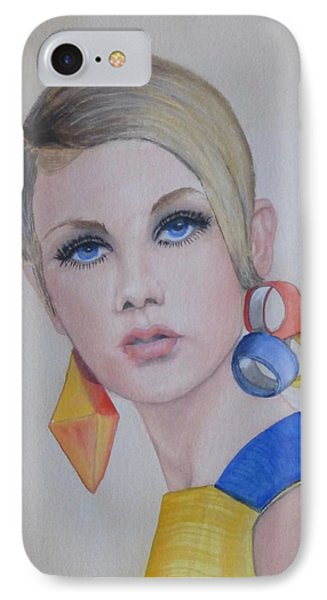 Twiggy The 60's Fashion Icon IPhone Case