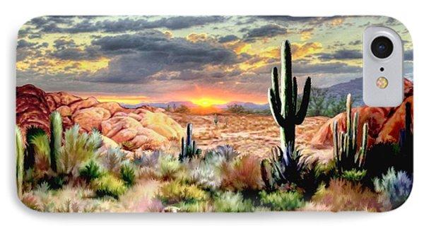 Twilight On The Desert IPhone Case