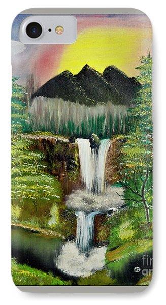 Twin Waterfalls IPhone Case