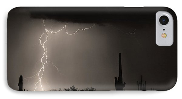 Twisted Storm - Sepia Print IPhone Case
