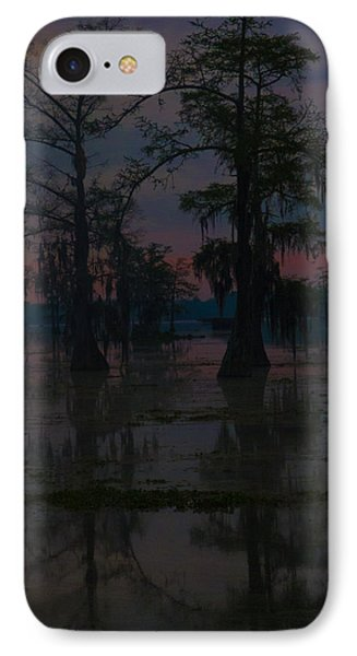 Two Cypress At Dawn IPhone Case