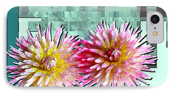 Two Dahlias IPhone Case