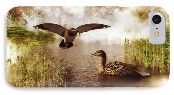 Two Ducks In A Pond IPhone Case