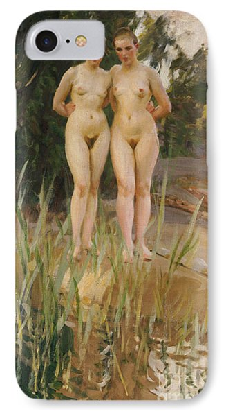 Nudes iPhone 8 Case - Two Friends  by Anders Leonard Zorn