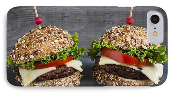 Two Gourmet Hamburgers IPhone Case