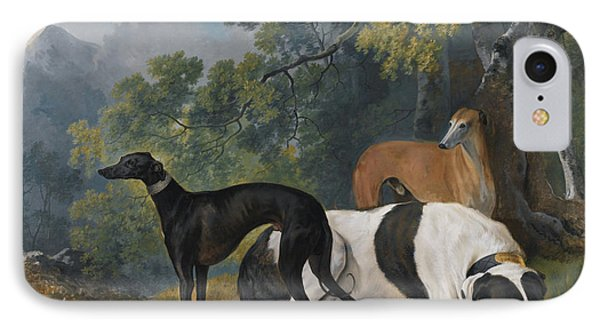 Two Greyhounds And A Mastif Belonging  IPhone Case