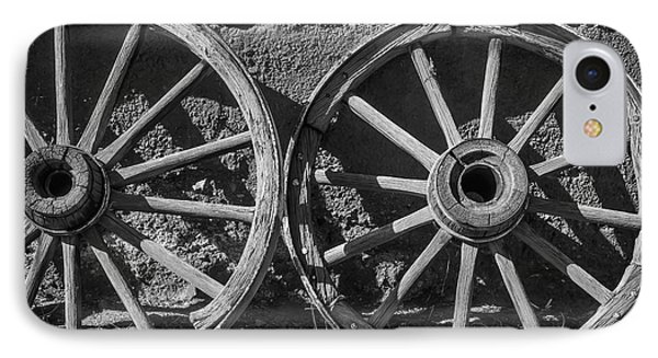 Two Old Wagon Wheels IPhone Case