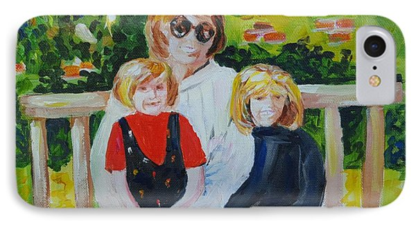 Two Sisters With Sweet Mom IPhone Case
