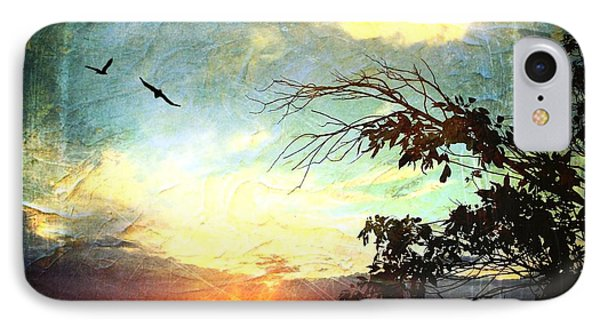 Two Souls Flying Off Into The Sunset  IPhone Case