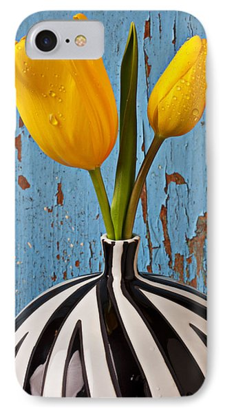 Tulip iPhone 8 Case - Two Yellow Tulips by Garry Gay