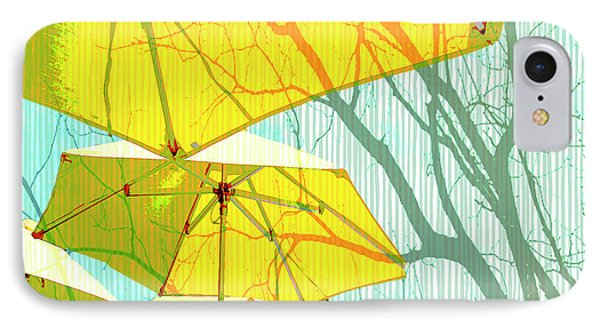 Umbrellas Yellow IPhone Case