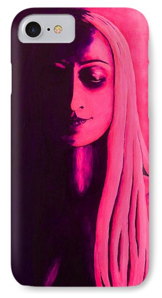 Unanswered In Pink And Purple IPhone Case