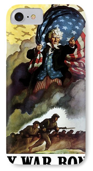 American iPhone 8 Case - Uncle Sam - Buy War Bonds by War Is Hell Store