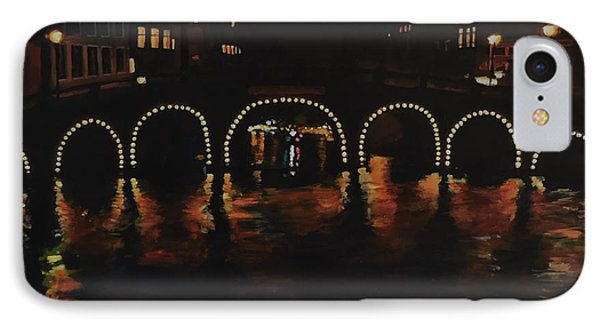 Under A Lighted Bridge In Amsterdam IPhone Case
