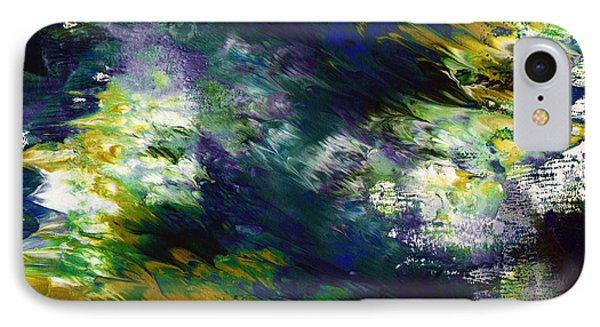 Mustard iPhone 8 Case - Under The Canopy 2- Abstract Art By Linda Woods by Linda Woods
