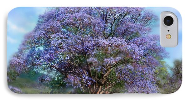 Beauty In Nature iPhone 8 Case - Under The Jacaranda by Carol Cavalaris