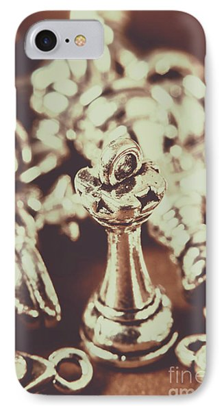 Unfallen Tower Of The Chess Game IPhone Case
