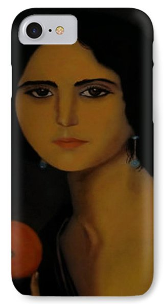 Untitled Woman With Orange IPhone Case