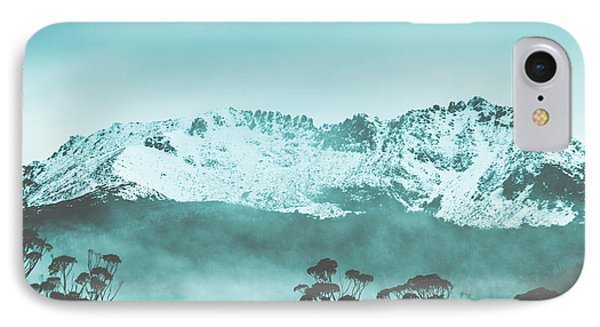 Beauty In Nature iPhone 8 Case - Untouched Winter Peaks by Jorgo Photography - Wall Art Gallery
