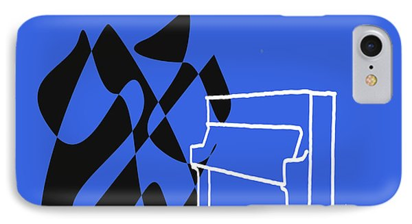 Upright Piano In Blue IPhone Case