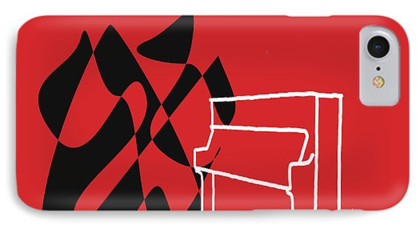 Upright Piano In Red IPhone Case