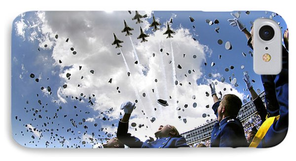 Airplane iPhone 8 Case - U.s. Air Force Academy Graduates Throw by Stocktrek Images