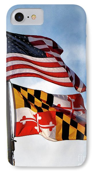 Us And Maryland Flags IPhone Case