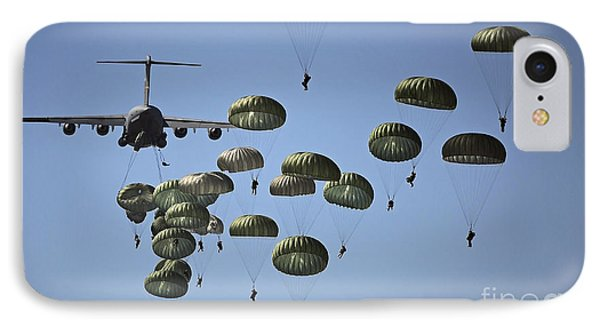 U.s. Army Paratroopers Jumping IPhone Case