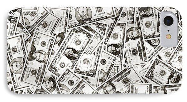 Us Money Dollar Background IPhone Case