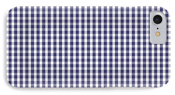 Usa Flag Blue And White Gingham Checked IPhone Case