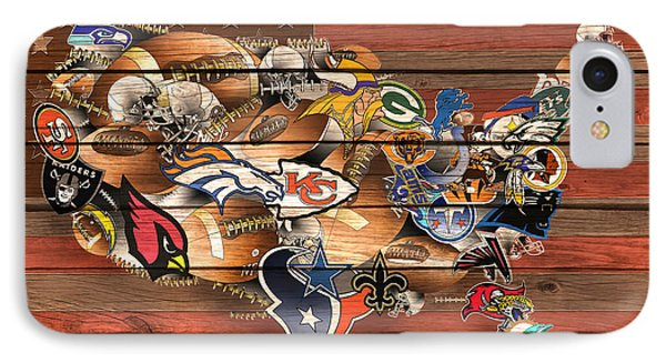 Usa Nfl Map Collage 6 IPhone Case