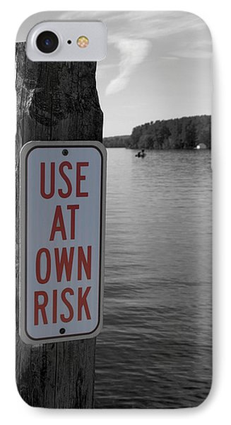 Use At Own Risk IPhone Case