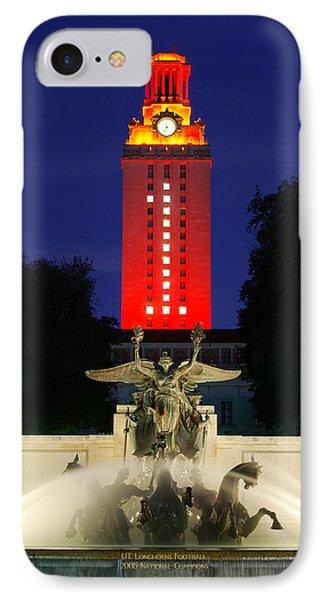 Ut Austin Tower Orange IPhone Case
