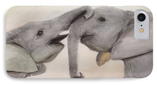 Valentine's Day Elephant IPhone Case