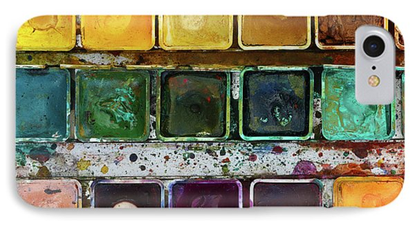 Various Watercolor Pigments In The Color-saucer IPhone Case