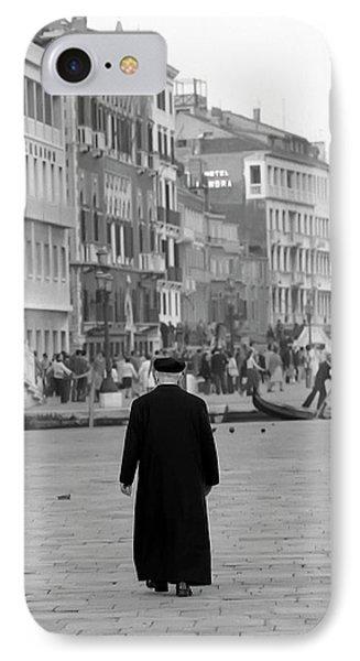 Venetian Priest And Gondola IPhone Case