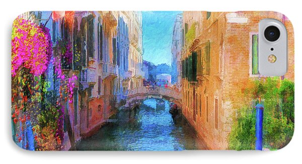 Venice Canal Painting IPhone Case