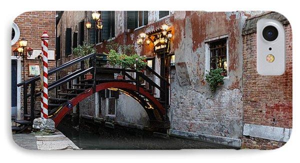 Venice Italy - The Cheerful Christmassy Restaurant Entrance Bridge IPhone Case