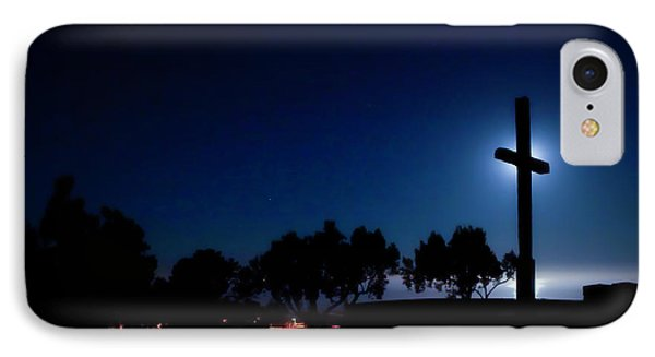 Ventura Ca Cross At Moonset IPhone Case