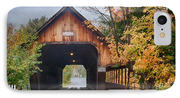 Vermont Fall Colors Over The Middle Bridge IPhone Case