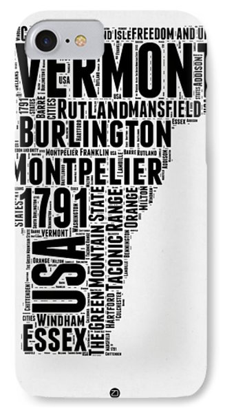 Vermont Word Cloud 2 IPhone Case