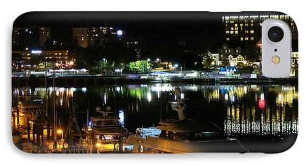 Victoria Inner Harbor At Night IPhone Case