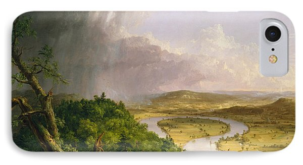 View From Mount Holyoke, Northampton, Massachusetts, After A Thunderstorm The Oxbow, 1836 IPhone Case