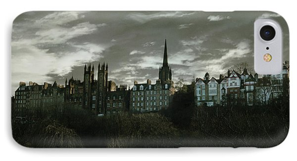 Scotland iPhone 8 Case - view of Edinburgh II by Cambion Art