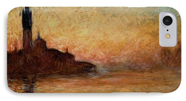 Impressionism iPhone 8 Case - View Of San Giorgio Maggiore by Claude Monet